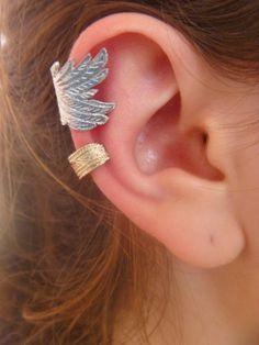 ear cuffs, will be perfect if it's diamonds cut. Ear Cuff Jewelry, Diy Jewelry, Jewelery, Jewelry Accessories, Piercing Tattoo, Ear Piercings, Best Friend Jewelry, Cartilage Earrings, Leather And Lace