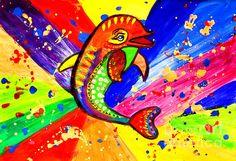 Dolphin Pop Art by Julia Fine Art Dolphin Painting, Dolphin Art, Painting Abstract, Abstract Watercolor, Free Canvas, Nautical Art, Animal Nursery, Artist At Work, Art Images