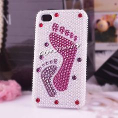 cute-pink-footprint-pearl-rhinestone-phone-case-for-iphone-4g-crystal-back-cover-for-iphone-4.jpg (1000×1000)