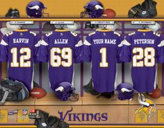 Minnesota Vikings NFL Football - Personalized Locker Room Print   Picture.  Have you or someone 235e7c0dc