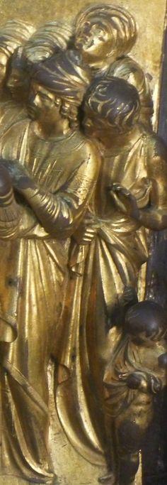 Ghiberti, porta del Paradiso. Firenze, Battistero Italian Renaissance, Renaissance Art, Florence Baptistery, Lorenzo Ghiberti, Italian Artist, Michelangelo, Gallery, Painting, Florence