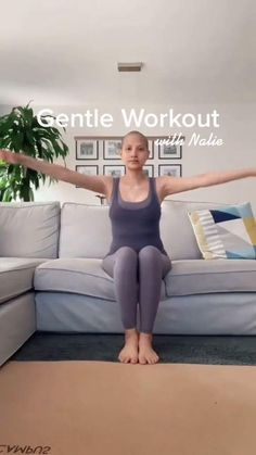 Easy Workouts For Beginners, Easy At Home Workouts, Home Exercise Routines, Couch Workout, Band Workout, Fitness Workout For Women, Yoga Fitness, Gentle Workout, Killer Workouts