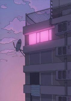 Imagen de pink, anime, and light anime art, aesthetic art, aesthetic anime Aesthetic Japan, Purple Aesthetic, Retro Aesthetic, Aesthetic Anime, Aesthetic Pastel Wallpaper, Aesthetic Backgrounds, Aesthetic Wallpapers, Arte 8 Bits, Japon Illustration