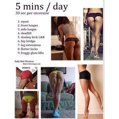 5 Minute Workout For A Better Butt! #Health #Fitness #Trusper #Tip