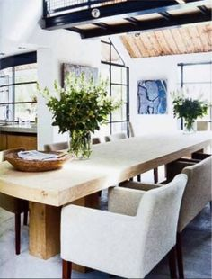 Table by Piet-Jan van den Kommer Modern Dining Table, Dining Table Chairs, Jackson House, My Furniture, Home And Living, Living Room, Interior Inspiration, Home And Garden, Interior Design