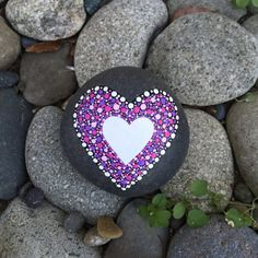 Heart Rock Paperweight with Bonus Peace Rock by InnerSasa on Etsy