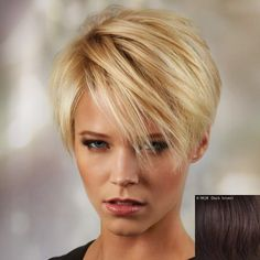 30 Best Short Haircuts for Fine Hair: Short Blonde; Haircuts For Fine Hair, Short Hairstyles For Women, Messy Hairstyles, Straight Hairstyles, Bob Haircuts, Short Razor Haircuts, Ladies Hairstyles, Evening Hairstyles, Updos Hairstyle