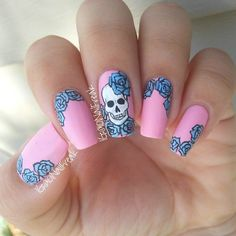 30 Rocking Skull Nail Art Designs | Best Pictures