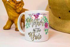 mother of the bride mug,mother of the bride gift,floral design, mother mug,wedding gift for mom,bridal shower gift,wedding shower gift, mugs by TheMugLoft on Etsy Wedding Gift Mugs, Wedding Shower Gifts, Gifts In A Mug, Gifts For Mom, Bride Gifts, Newlyweds, Mother Of The Bride, Floral Design, Etsy