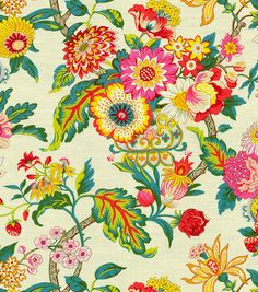 "Waverly Print Fabric 54"" - Graceful Garden/Spring"
