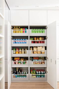 Pantry Shelving, Kitchen Organization Pantry, Diy Kitchen Storage, Home Decor Kitchen, Kitchen Interior, Home Kitchens, Pantry Design, Home Room Design, Cuisines Design