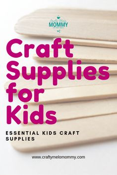 Not sure where to start with the craft box for your child? Take a look at these essential craft supplies for kids Kids Craft Supplies, Craft Projects For Kids, Paper Crafts For Kids, Easy Crafts For Kids, Kid Crafts, Indoor Activities For Kids, Fun Activities, Preschool Ideas, Play Based Learning