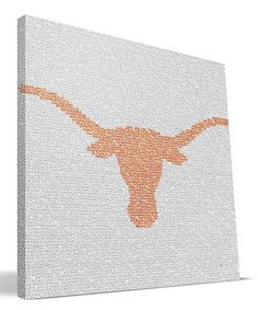 Love this Texas Longhorns Type Print Wall Art by Paulson Designs on #zulily! #zulilyfinds