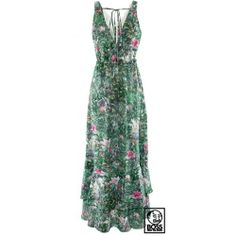 Jungle Print Maxi Dress