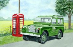 Land Rover Series Lander Rover, Land Rover Series 3, Off Roaders, Best 4x4, Craft Stalls, Truck Art, Expedition Vehicle, Car Painting, Military Art