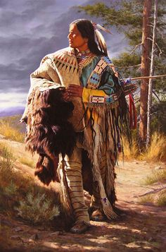 A Sioux Gentleman by Alfredo Rodriguez.                                                                                                                                                      More Native American Indians, Native American Beauty, Native American Paintings, Native American Pictures, Indian Pictures, American Indian Art, Indian Paintings, Art Paintings, Native American History
