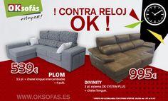 Continuamos con los contra reloj. No dejes escapar el tiempo y relájate en un buen sofá. Corre, corre!!!  www.oksofas.es