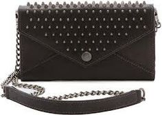 Rebecca Minkoff Studded Wallet on a Chain in Black
