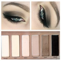 Look using Urban Decay Naked Basics : W.O.S as base all over lid, NAKED2 in crease and outer lid, FAINT in outer V area and lower lash line, CRAVE to darken outer V and outer lash line, FOXY and VENUS to blend and highlight brow bone. Also used HALFBAKED from the Naked One palette on inner corner.