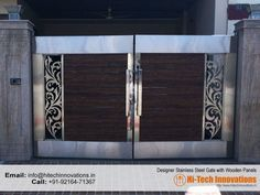 Steel Front Door Entrance Gate Design 49 Ideas For 2019 Home Gate Design, Grill Gate Design, House Main Gates Design, Steel Gate Design, Front Gate Design, Main Door Design, Entrance Design, Modern Main Gate Designs, Stainless Steel Gate
