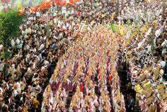 Obon festival, Okinawa, Japan