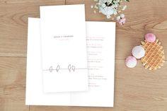 menu de mariage oiseaux (4 pages) by Tomoë pour rosemood.fr #mariage #menu #wedding