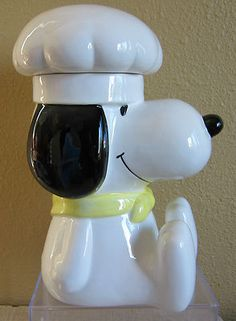 Vintage 1966 Snoopy Chef Cookie Treat Jar Excellent/Very Good (: