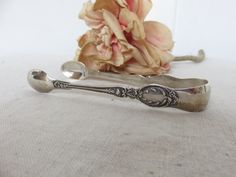 Pretty Antique English Solid Silver Sugar Tongs, Hallmarked Silver Tongs 1901, Vintage Dining, English Afternoon Tea, Country Home Tableware by SweetVintageDream on Etsy