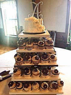 #wedding #cupcakes wedding cupcake tower