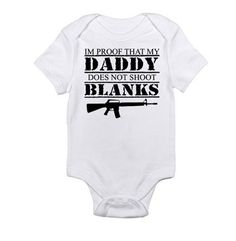 """I'm proof that daddy does not shoot blanks"" bahahahaha"