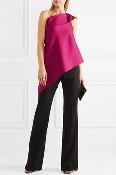 Fuchsia satin Slips on  70% acetate, 26% viscose, 4% polyurathane Dry clean Designer color: Orchid Made in the UK