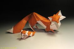 Origami Fox - Designed and folded by Hoang Tien Quyet.