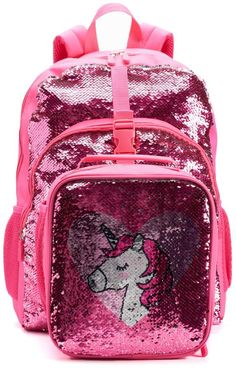 2dd1294d916f Shop the latest collection of Kids Flippable Sequins I Love Unicorns  Backpack Lunch Bag Set from the popular stores - all in one