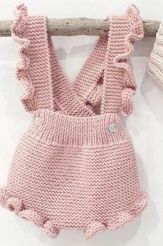 Knitted Baby Onesie Models - Happy Ornament Home .- Gestrickte Baby Strampler Modelle – fröhliche Ornament Home – kostenlose Geburt… Knitted Baby Onesie Models – Happy Ornament Home – Free Birthday … - Knitted Baby Clothes, Knitted Romper, Crochet Clothes, Knitted Baby Outfits, Crochet Outfits For Babies, Knit Baby Dress, Ruffle Romper, Baby Knits, Knitting For Kids