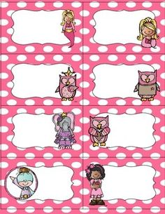 This is a set of classroom labels. This set includes a variety set of labels in both pink and blue color choices, blank labels and three pages of assorted labels. The labels include subjects, supplies, lunch labels, snack labels, binder labels, etc.