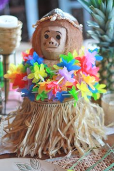 Party decor from #Goodwill. #thrift #entertain #Hawaiian #luau $1.99