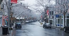 Gloucester Main Street in the snow. Oh it's beautiful! Gloucester Massachusetts, Always A Bridesmaid, Personal Space, North Shore, Main Street, New England, Places To See, The Good Place, Maine