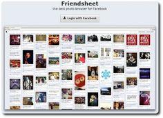 Friendsheet : pour donner à Facebook l'allure de Pinterest
