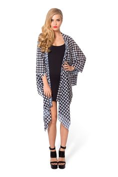 Houndstooth Kimono - LIMITED by Black Milk Clothing $80AUD