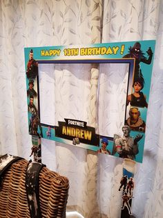 Click Photo and Take it for Free! – Free Fortnite Outfits / V-Bucks / Skins and … - Pubg, Fortnite and Hearthstone Happy 13th Birthday, 13th Birthday Parties, Maleficent Party, Party Frame, Kids Birthday Themes, Video Game Party, Star Wars Birthday, Diy Party Decorations, Click Photo