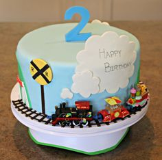Nile's Train Birthday Cake