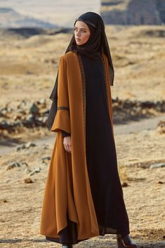 Love the details on this abaya - 2019 Hijab Clothing Islamic Fashion, Muslim Fashion, Modest Fashion, Fashion Outfits, Abaya Designs, Hijab Style Dress, Hijab Outfit, Hijab Mode Inspiration, Hijab Stile