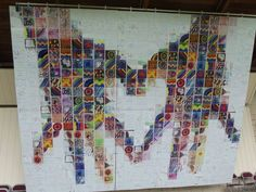 Kids project, 500 drawings, 1 montage - via The Art Center - for Cranberry Community Days; Collaborative Project