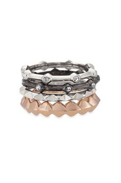 Katelyn Mixed Band Rings - Size 5 from Stella & Dot on shop.CatalogSpree.com, your personal digital mall.
