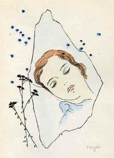 A Girl sleeping under the Stars  - Toyen, 1944.
