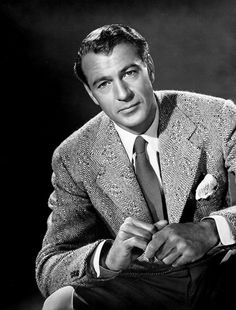 Gary Cooper...tall dark and oh so handsome. And that voice!