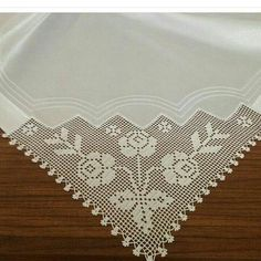 No photo description available. Filet Crochet, Crochet Doilies, Crochet Lace, Coffee Table Cloth, Diy And Crafts, Cross Stitch, Boho, My Favorite Things, Handmade