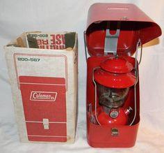 1973 Coleman Lantern Model 200A with Metal Carrying Case Original Box | eBay