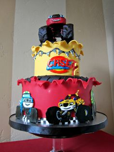 """Delectable Cakes: """"Blaze and the Monster Machine's"""" birthday cake"""