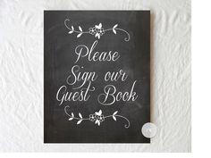 Chalkboard Wedding Sign - Guest Book Sign  - Rustic Weddings - (PG-5) by ThePaperWalrus on Etsy https://www.etsy.com/listing/126576814/chalkboard-wedding-sign-guest-book-sign